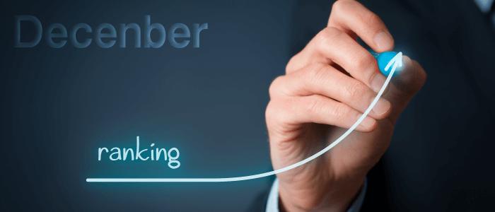 2017年12月の仮想通貨ランキング